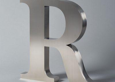 Illumated Metal R Unlit