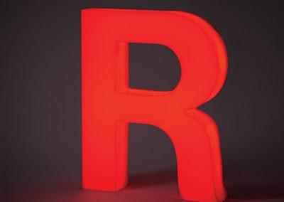 Illuminated Plastic R Lit