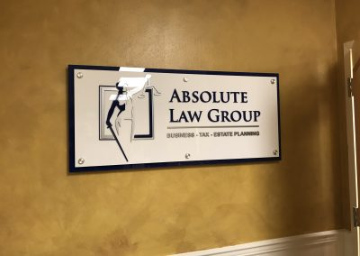 Absolute Law Group Dimensional Sign