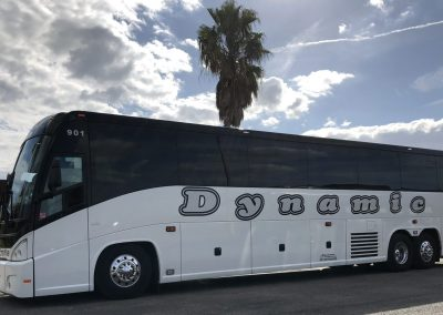 White Dynamic Fleet Bus