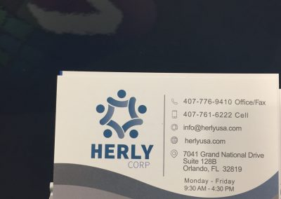 Herly Corp Business Card