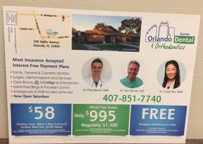 Orlando Dental Center Flyer